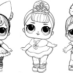 LOL Coloring Pages three dolls