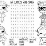 LOL Coloring Pages word search worksheets