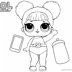 LOL Surprise Coloring Pages Cute Queen Bee