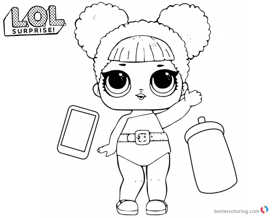 LOL Surprise Coloring Pages Cute Queen Bee printable