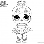 LOL Surprise Coloring Pages Cute Sugar Queen