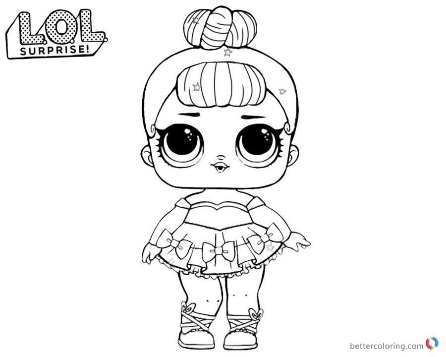 LOL Surprise Coloring Pages Cute Sugar Queen printable