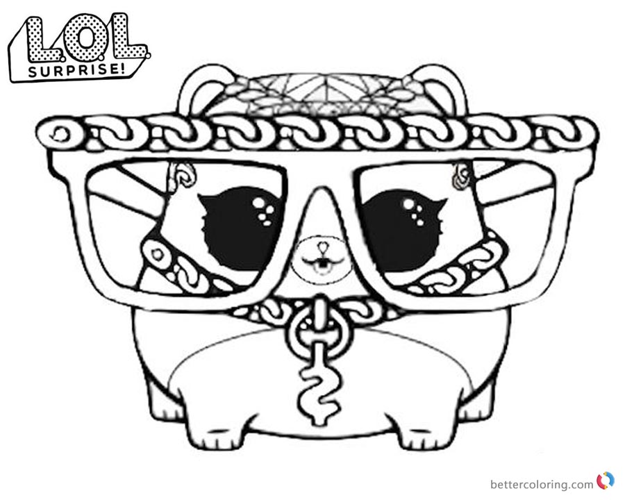 LOL Surprise Coloring Pages Series 3 M.C. Hammy - Free ...