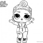 LOL Surprise Coloring Pages Pink Baby