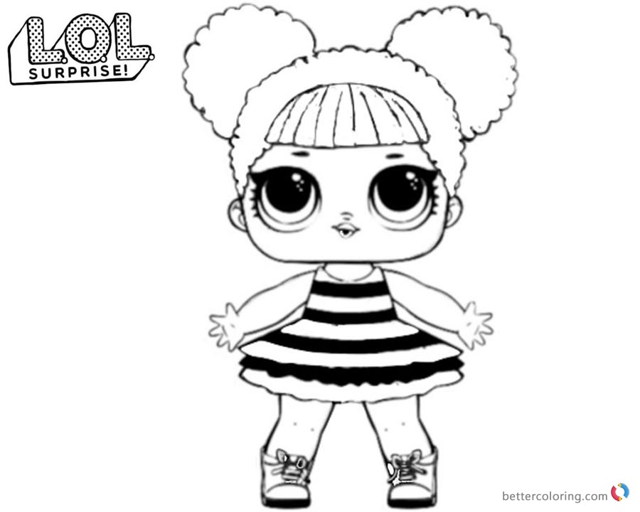 LOL Surprise Coloring Pages Queen bee Free Printable