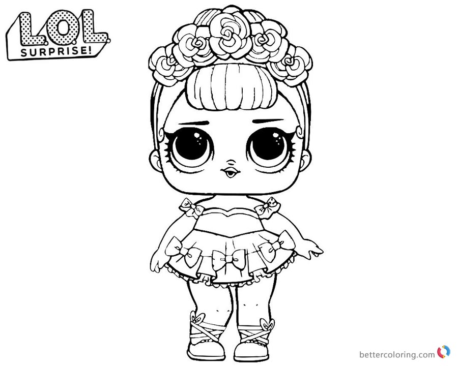 LOL Surprise Coloring Pages Series 2 Sugar Queen Free Printable Coloring Pages