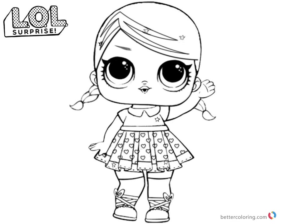 lol surprise coloring pages super bb glitter - free