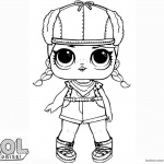 LOL Surprise Doll Coloring Pages Brrr B.b.