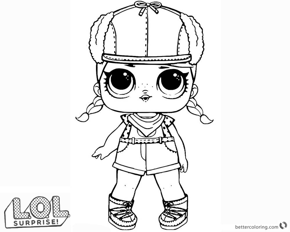 Printable LOL Surprise Doll Coloring Pages Brrr B.b. printable