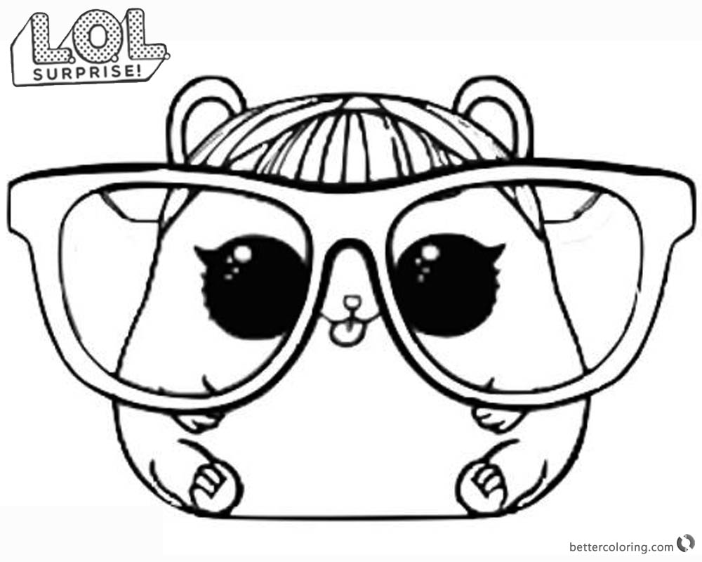 Lol Surprise Doll Coloring Pages Series 3 Cherry Ham