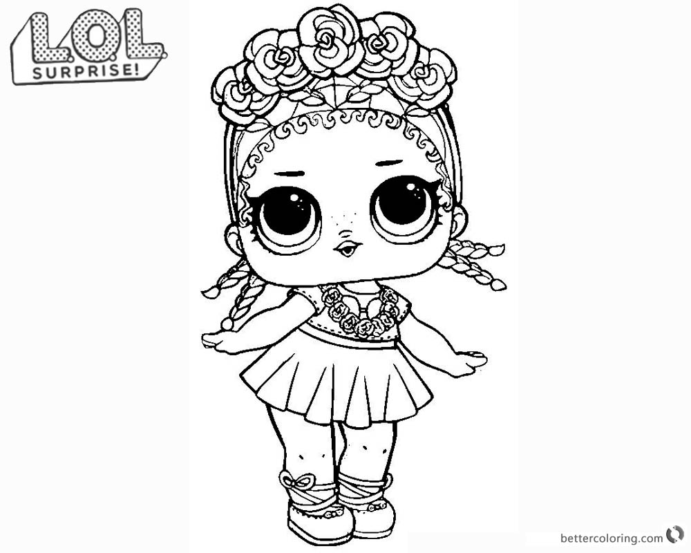 LOL Surprise Doll Coloring Pages Coconut Q.T. printable