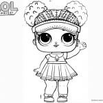 LOL Surprise Doll Coloring Pages Court Champ