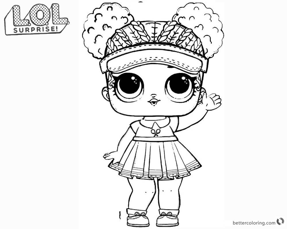 LOL Surprise Doll Coloring Pages Series 2 Court Champ