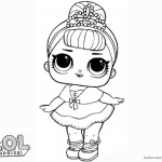 LOL Surprise Doll Coloring Pages Crystal Queen