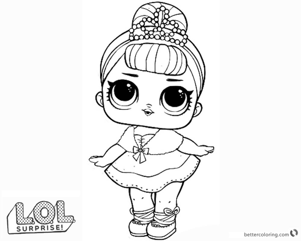 LOL Surprise Doll Coloring Pages Crystal Queen Free