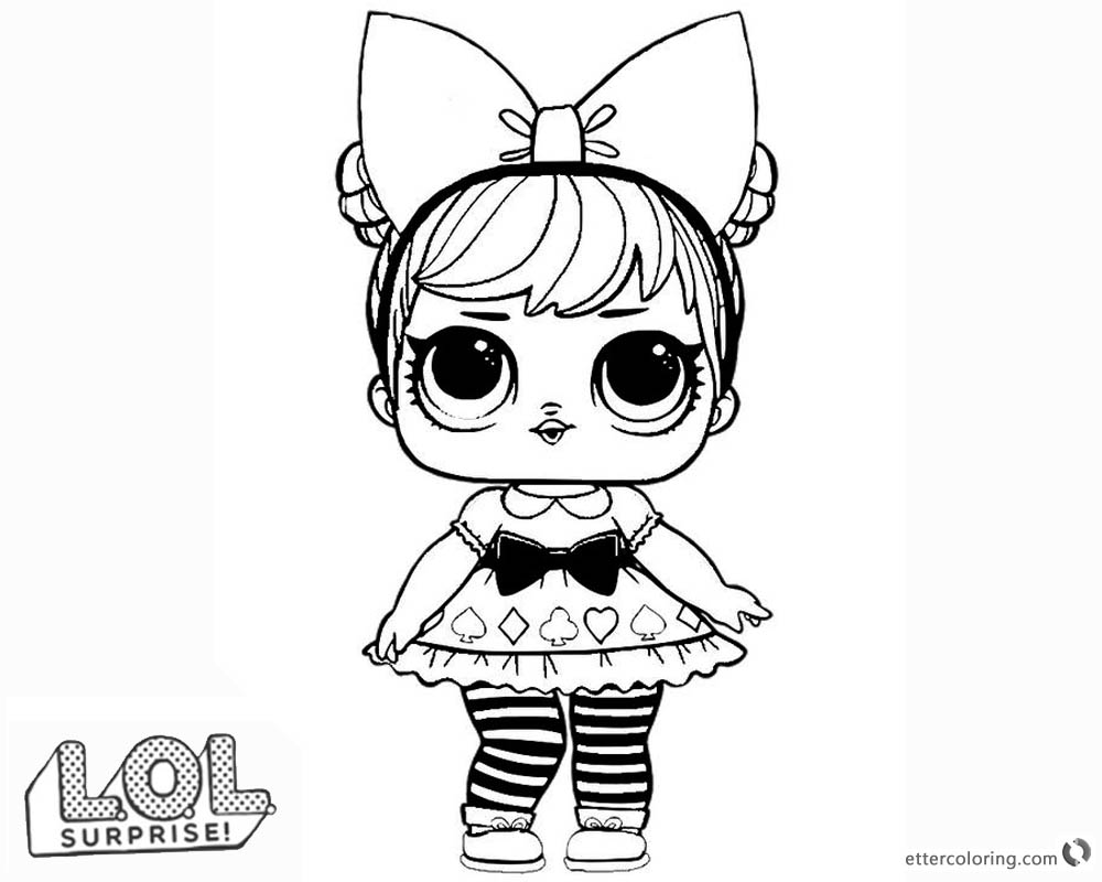 Lol Surprise Doll Coloring Pages Curious Qt Free