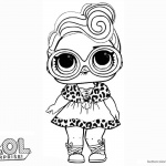 LOL Surprise Doll Coloring Pages Dollface
