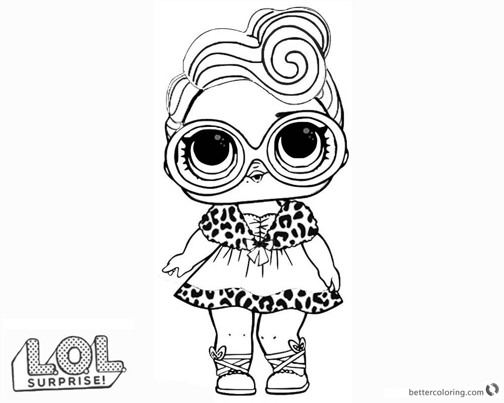 LOL Surprise Doll Coloring Pages Dollface printable