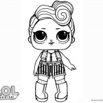 LOL Surprise Doll Coloring Pages Funky qt
