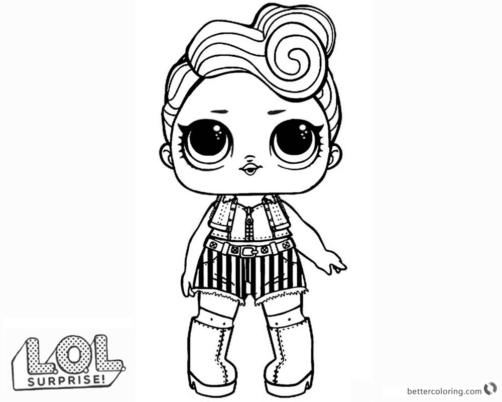 LOL Surprise Doll Coloring Pages Series 3 Funky qt - Free ...