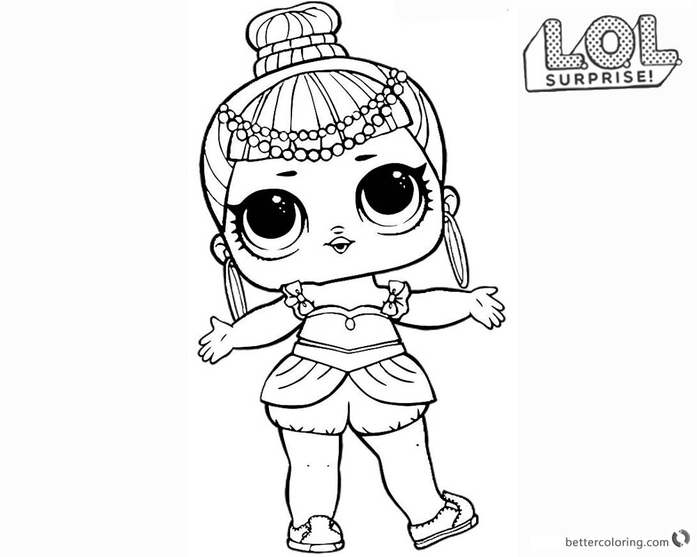 LOL Surprise Doll Coloring Pages Series 2 Genie - Free