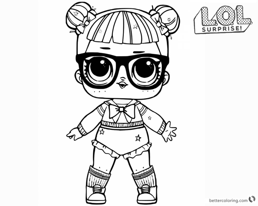 LOL Surprise Doll Coloring Pages Glitter Teacher's Pet printable