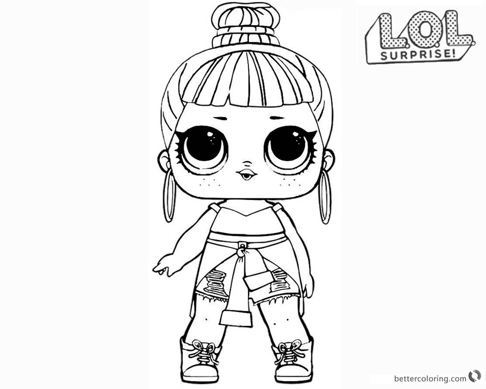 LOL Surprise Doll Coloring Pages Honey Bun printable