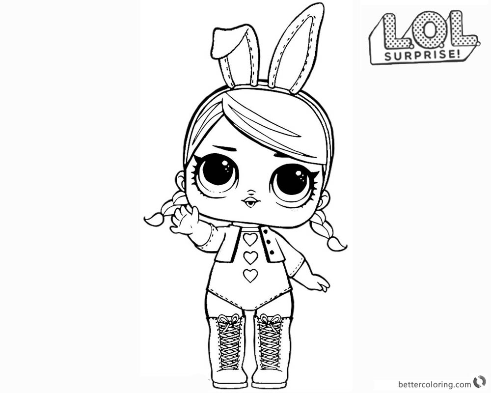 Lol Surprise Doll Coloring Pages Hops Free Printable