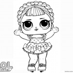 LOL Surprise Doll Coloring Pages Ice Sk8er