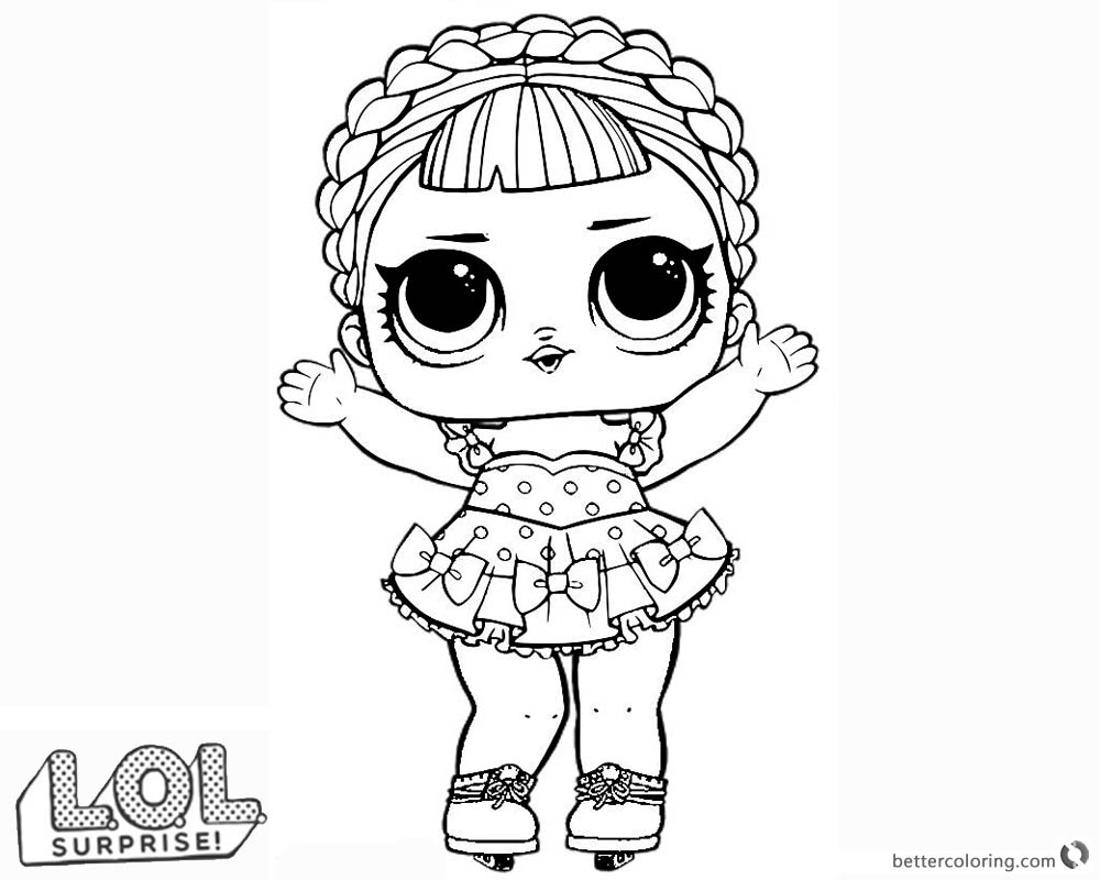 Lol Surprise Doll Coloring Pages Ice Sk8er Free