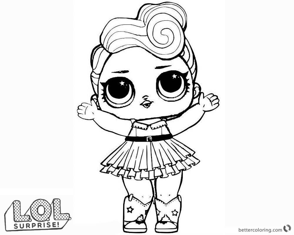 Lol Suprise Doll Coloring Pages Sketch Coloring Page
