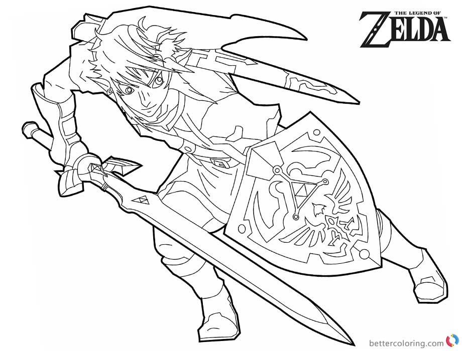 Legend of Zelda Coloring Pages Black and White - Free Printable ...