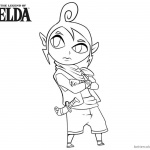 Legend of Zelda Coloring Pages Character Clipart