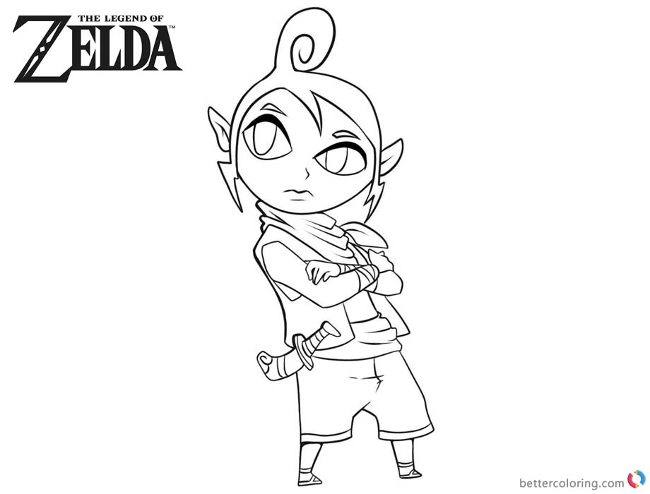 Legend of Zelda Coloring Pages Character Clipart printable for free
