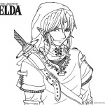 Legend of Zelda Coloring Pages Fanart