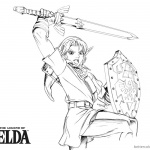 Legend of Zelda Coloring Pages Lineart