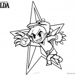 Legend of Zelda Coloring Pages Link Bird Style