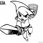 Legend of Zelda Coloring Pages Link Jump to Fight