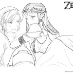 Legend of Zelda Coloring Pages Link and Princess Fan Art