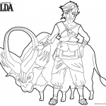 Legend of Zelda Coloring Pages Link with Ganon