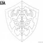 Legend of Zelda Coloring Pages Link's Shield