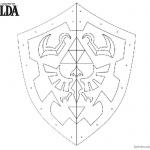 Legend of Zelda Coloring Pages Link's Shield