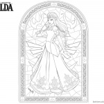 Legend of Zelda Coloring Pages Princess Pattern