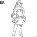 Lengend Of Zelda Coloring Pages Toon Link Pencil Drawing Free