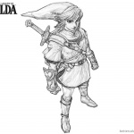 Legend of Zelda Coloring Pages Side View