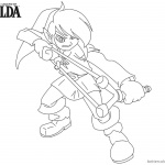 Legend of Zelda Coloring Pages Slingshot