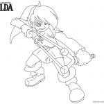 Legend of Zelda Coloring Pages Slingshot