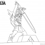 Legend of Zelda Coloring Pages Sword