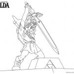 Legend of Zelda Coloring Pages Sword