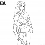 Legend of Zelda Coloring Pages Sword in Hand